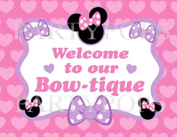 minnie mouse birthday sign printable ; a711511269fb7bb7fc2d186471abe9dc