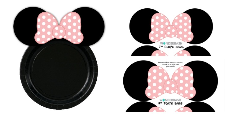 minnie mouse birthday sign printable ; minnie_mouse_party_decor_paper_plates_ears_wonderbash