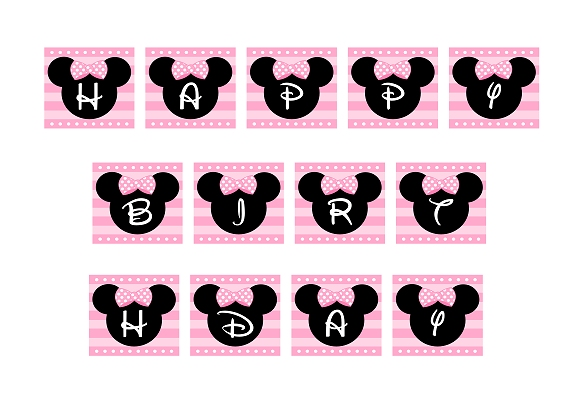 minnie mouse birthday sign printable ; minnieminibannerhappybirthday