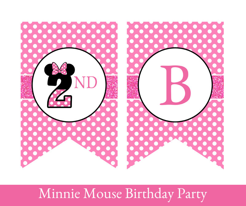 minnie mouse birthday sign printable ; pink-hair-clipart-minnie-mouse-2nd-birthday-10