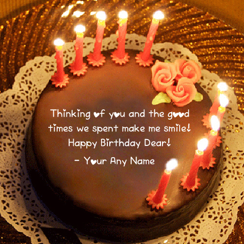 name birthday cake with photo ; Friend-Name-Birthday-Wishes-Quotes-Cake-Pictures