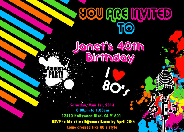 neon colored birthday invitations ; SKU-10174-back-to-the-future-birthday-invitation