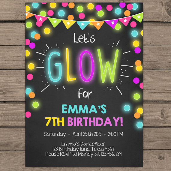neon colored birthday invitations ; e33178415e90f39a5cc81c9fb6d1b19d
