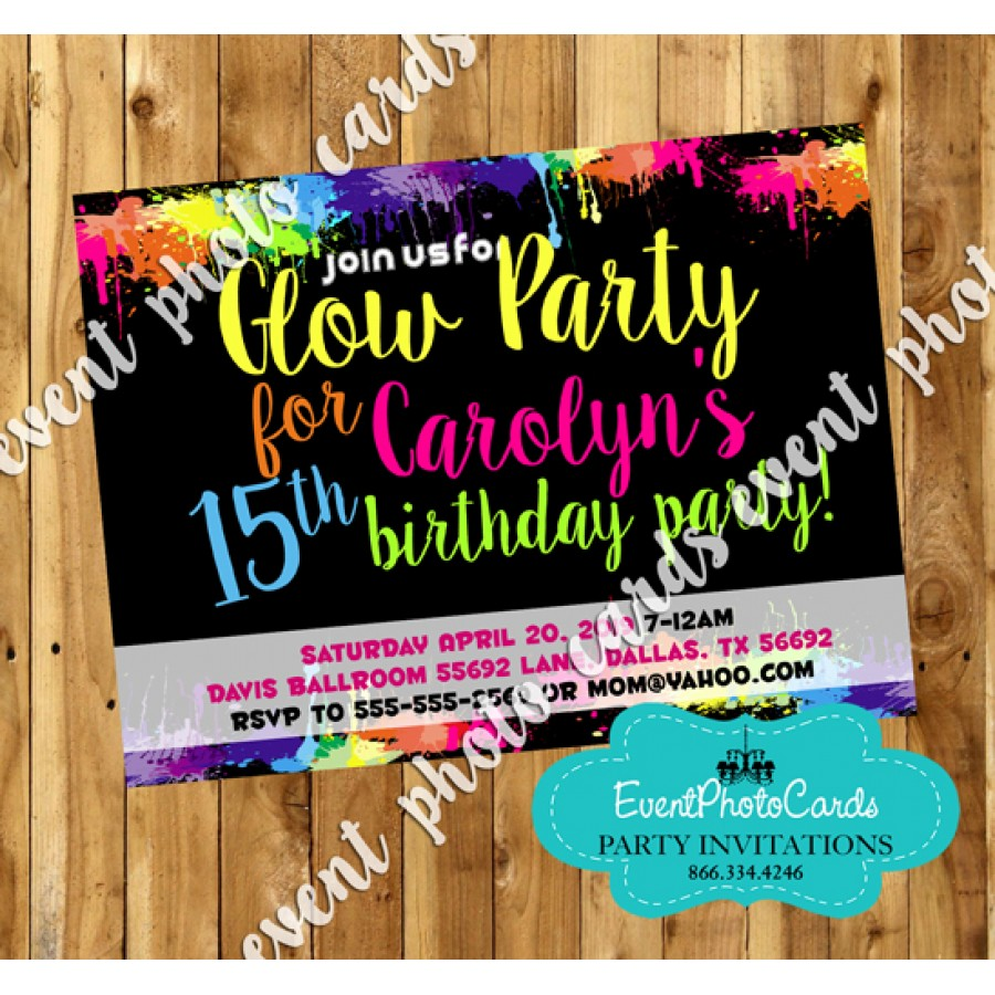 neon colored birthday invitations ; neon-glow-paint-party-invitations-900x900