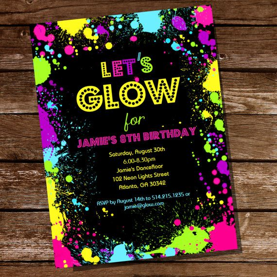 neon colored birthday invitations ; neon-party-invitations-templates-best-10-neon-party-invitations-ideas-on-pinterest-neon-sweet-16-printable