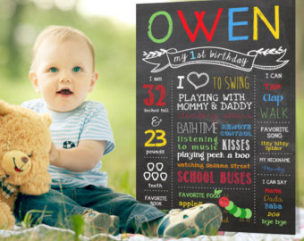 one year old birthday photo props ; il_340x270