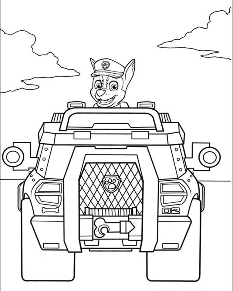 paw patrol birthday coloring sheets ; Kids-Printable-Paw-Patrol-Coloring-Pages-Chase-67391