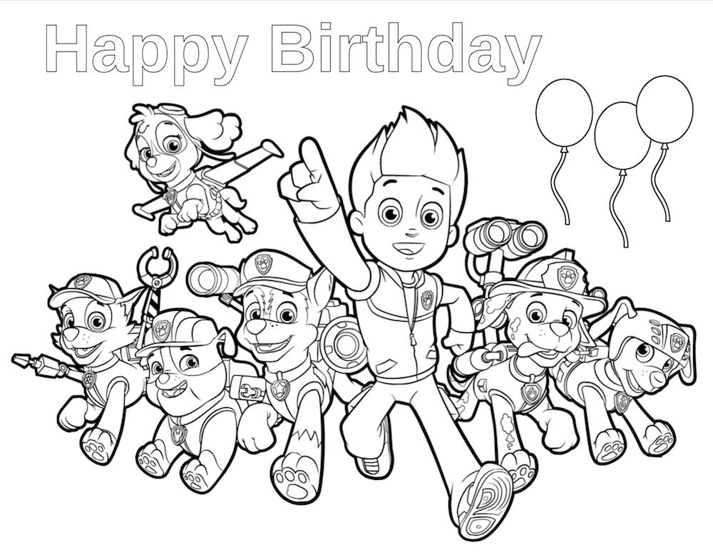 paw patrol birthday coloring sheets ; b962502fa6bbf5804350587d00fed947