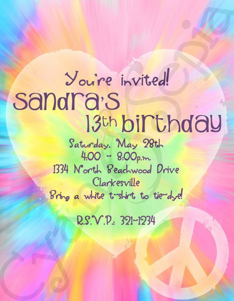 peace sign birthday invitation templates ; 1000-images-about-double-digits-on-pinterest-printable