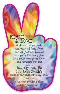 peace sign birthday invitation templates ; cc94f7a6c503d95e6cd2db2e4d6f1220--hippie-birthday-party-hippie-party