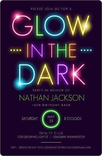 peace sign birthday invitation templates ; glow-in-the-dark-birthday-party-invitations-best-25-neon-party-invitations-ideas-on-pinterest-black-light-templates