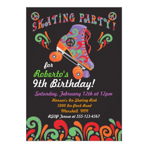 peace sign birthday invitation templates ; groovy_black_roller_skating_party_invitations-rd859c5a604024aa9ad3c75779cc3ece1_imtzy_8byvr_512