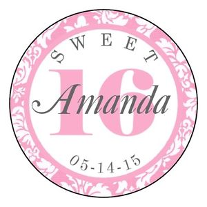 personalized birthday labels stickers ; s-l300