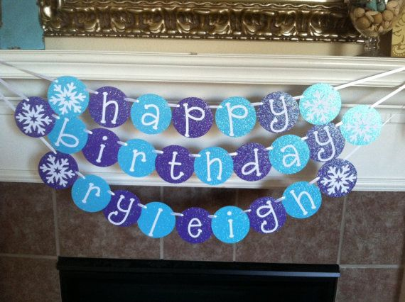 personalized birthday signs banners ; 8d685488a500b3f7482732ee38a4b037--frozen-birthday-party-th-birthday