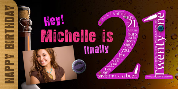 personalized birthday signs banners ; Girl-Happy-21st-Birthday-Banner-with-Photo-LG
