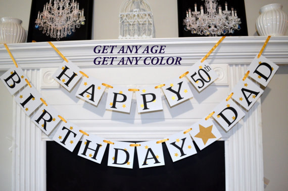 personalized birthday signs banners ; happy-birthday-dad-banner-50th-birthday-banner-gold-birthday-60th-birthday-banners-personalized