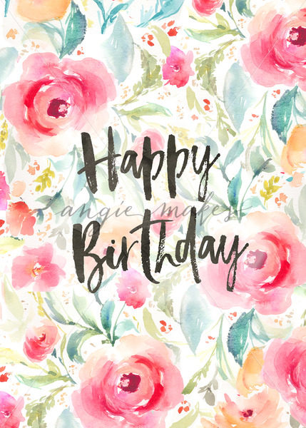 photo happy birthday flowers ; Happy-Birthday-Background-With-Watercolor-Flowers