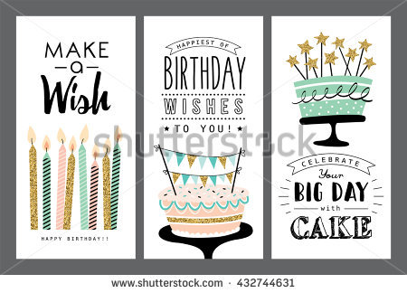 pictures of birthday greeting cards ; stock-vector-set-of-birthday-greeting-cards-design-432744631