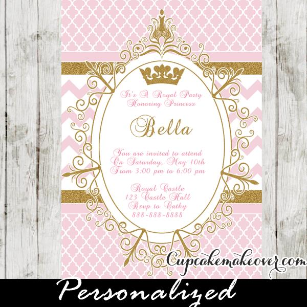princess themed birthday invitation cards ; 27-Royal-Princess-Pink-Invitation-card-2