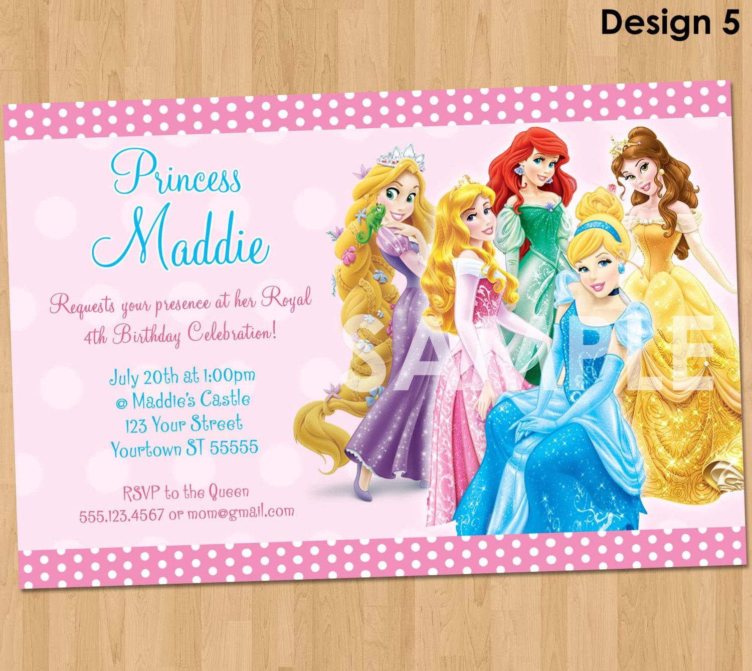princess themed birthday invitation cards ; Disney-Princess-Birthday-Party-Invitations-combined-with-your-creativity-will-make-this-looks-awesome-1