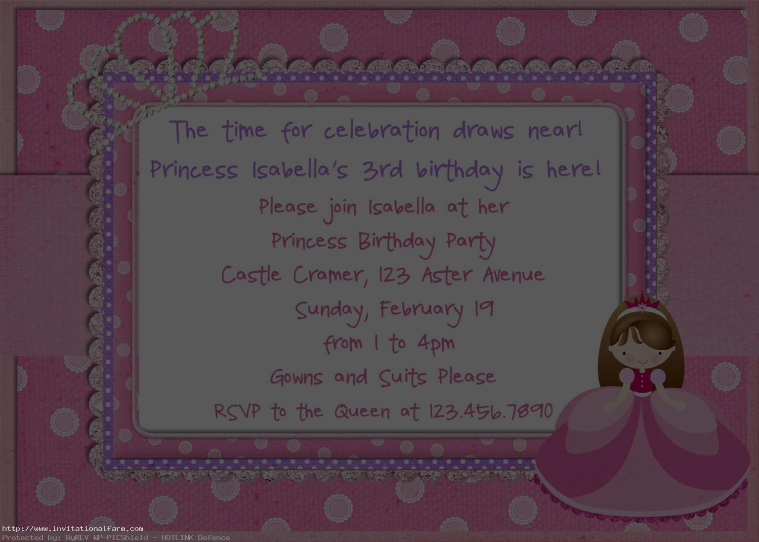 princess themed birthday invitation cards ; Princess-Birthday-Party-Invitations-Card