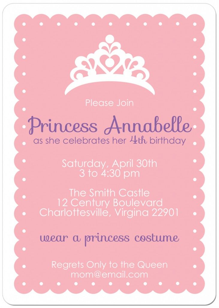 princess themed birthday invitation cards ; best-25-princess-party-invitations-ideas-on-pinterest-princess-birthday-invitation-princess-theme