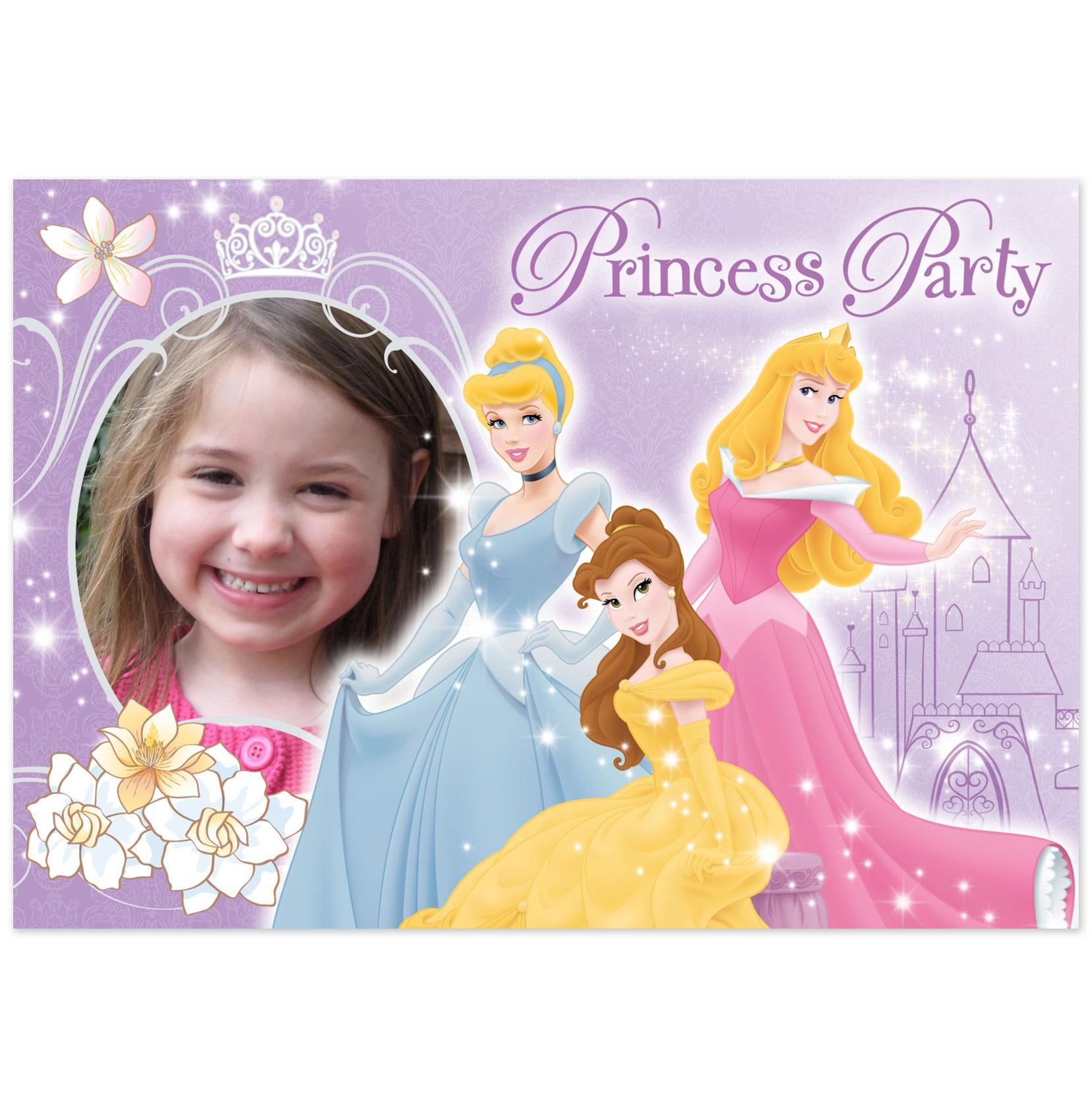 princess themed birthday invitation cards ; birthday-invitation-card-maker-free-download