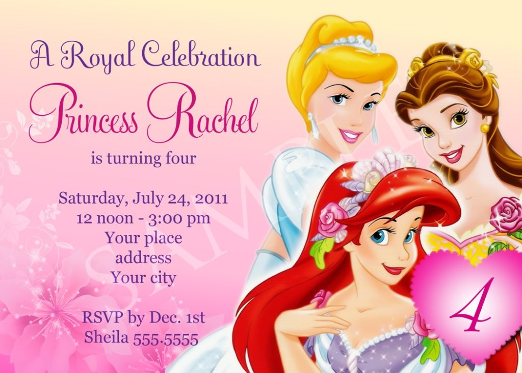 princess themed birthday invitation cards ; princess_theme_party_invitations_princess_birthday_party_3-1024x731