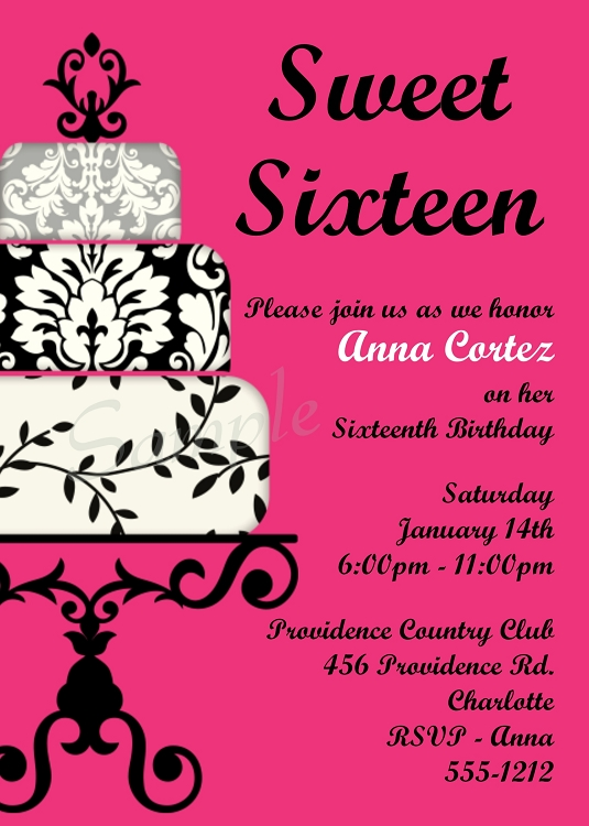 printable 16th birthday invitation templates ; 641015cf168299746656f40f38830380