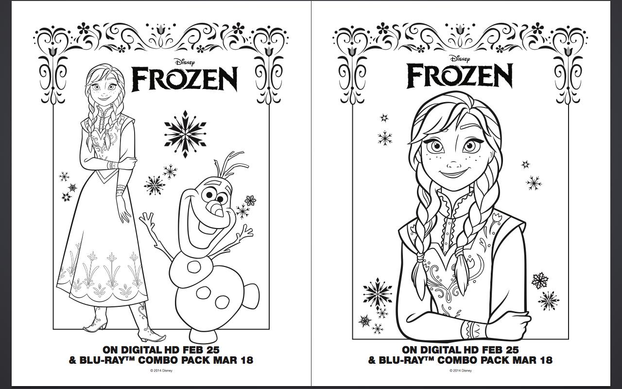 printable birthday activity sheets ; Free-Frozen-Anna-Elsa-Olaf-Coloring-Pages-Printables