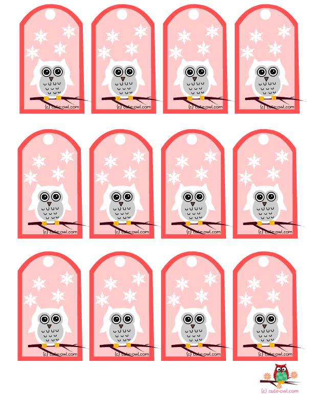 printable birthday favor tags ; owl-party-favor-tags-1-pink