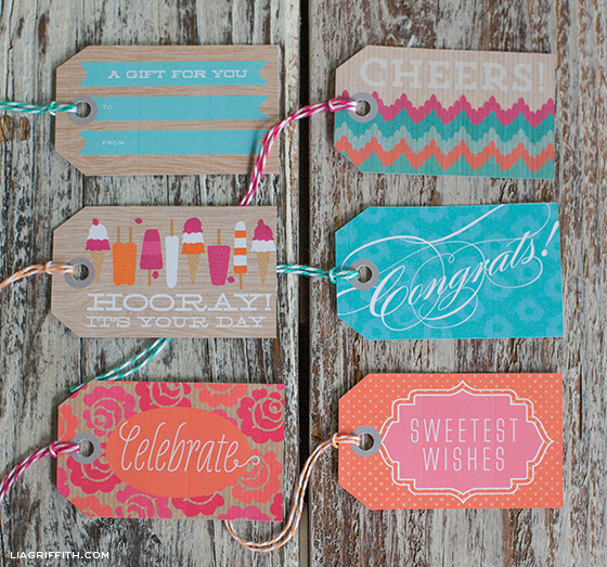 printable birthday gift tags ; SweetSummerGiftTags