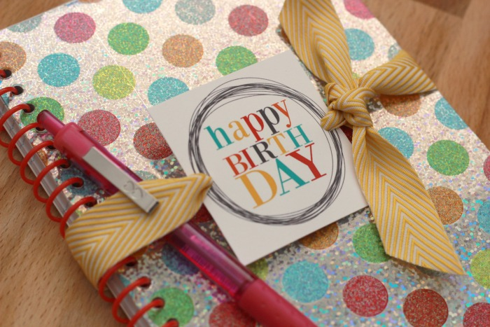 printable birthday gift tags free ; Birthday-Gift-Tags-on-notebook-closeup
