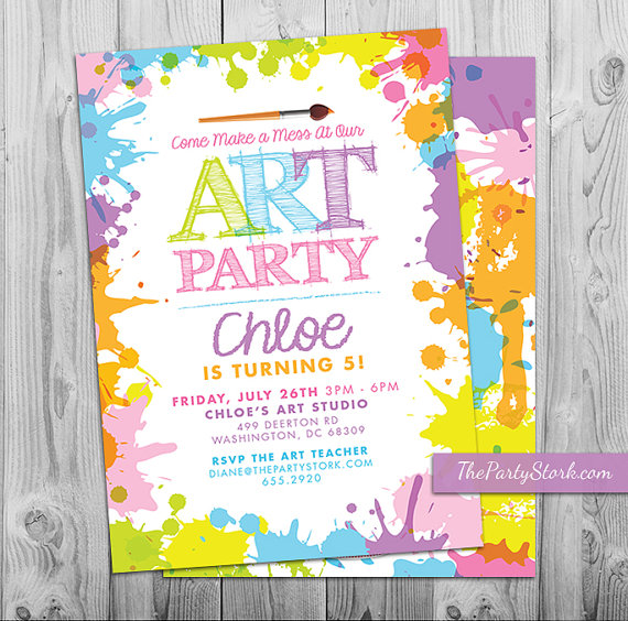 printable birthday invitations to color ; il_570xN