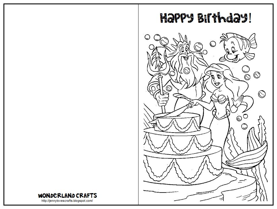 printable birthday invitations to color ; wonderlan-crafts-printable-birthday-cards-for-kids-ultimate-page-self-coloring-training-majestic-mermaid