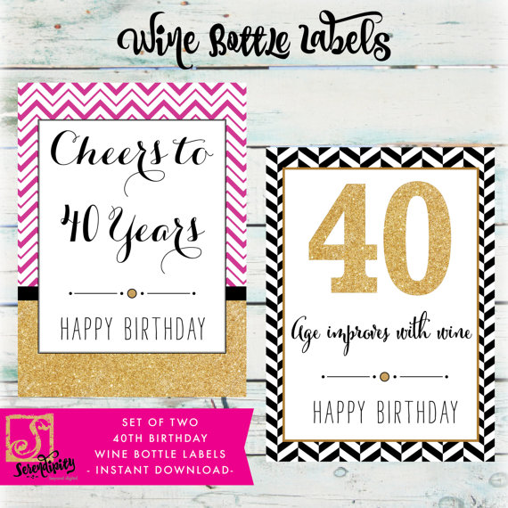 printable birthday labels ; 40th-birthday-wine-bottle-labels-diy-birthday-wine-labels-40th-birthday-labels