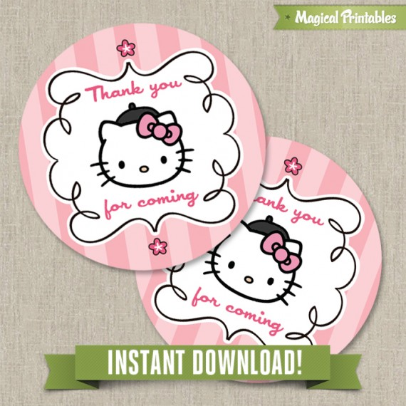 printable birthday labels ; Hello-Kitty-Paris-favor-tags-570x570