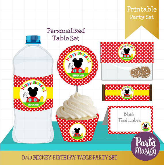 printable birthday labels ; personalized-mickey-clubhouse-party-decor-printable-birthday-table-set-cupcake-toppers-water-bottle-labels-candy-wrappers-and-more-d749-58e3bdd41