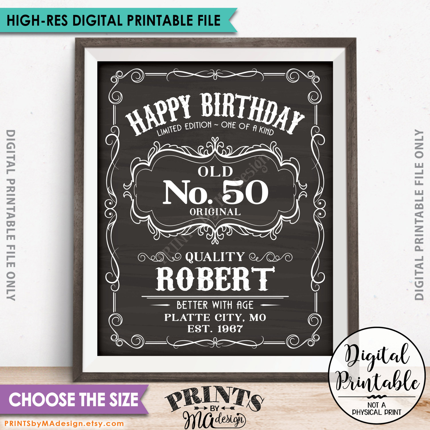 printable birthday poster ; il_fullxfull