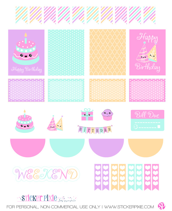 printable birthday stickers ; 13378e6844ea562156210899d699d949