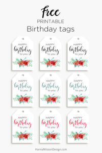 printable birthday tags ; floral-birthday-tags-pin-200x300