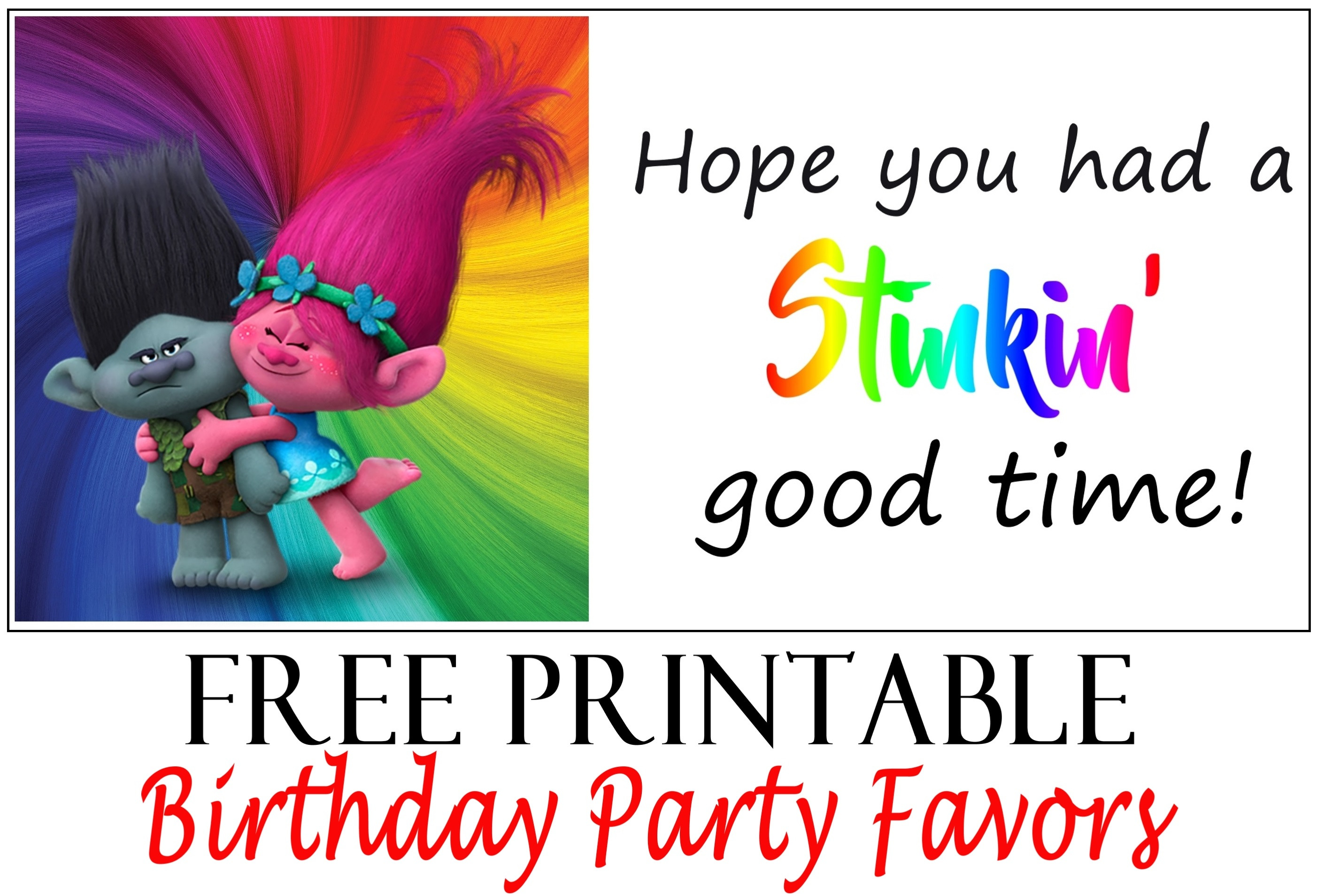 printable birthday tags ; trollmockup
