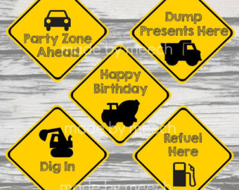 printable construction birthday signs ; 5eb30471fc49435c916321d6806f492c