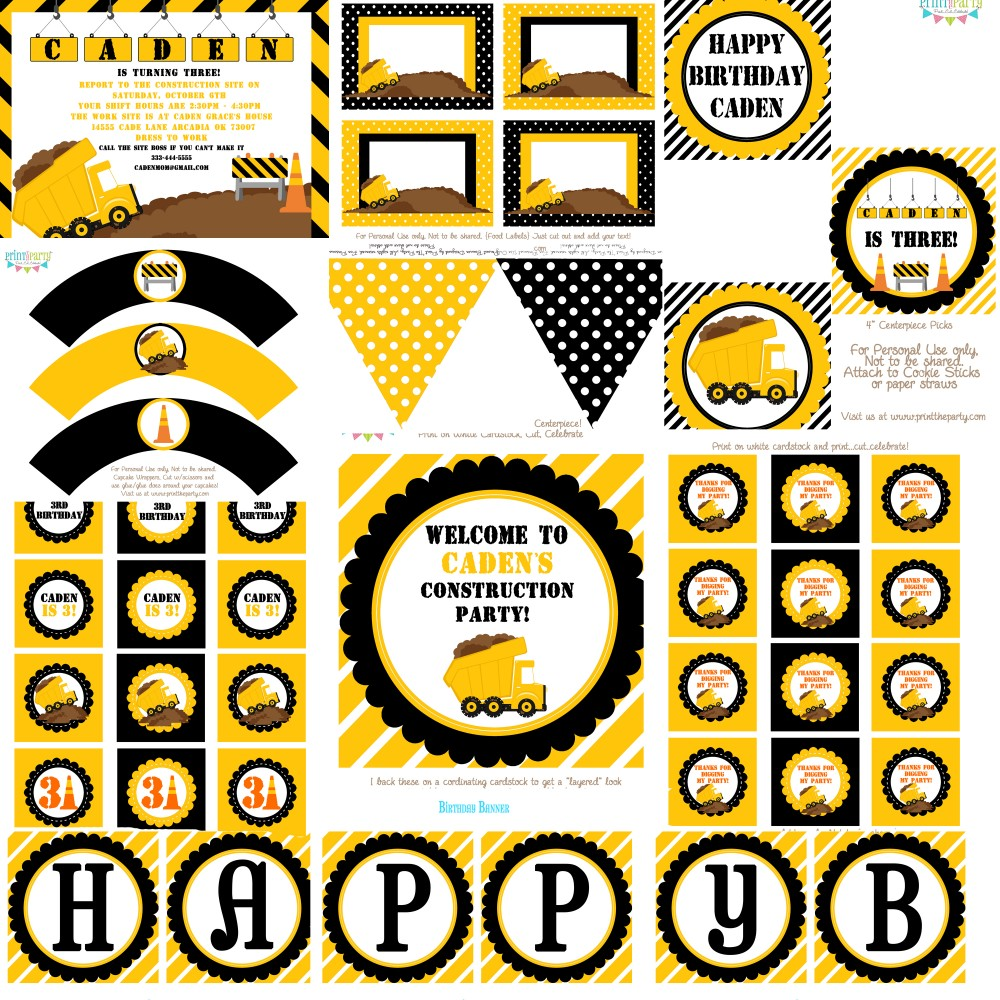 printable construction birthday signs ; 94c6eb3624f76786efb5114d18409e69