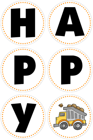 printable construction birthday signs ; construction-birthday-party-banner