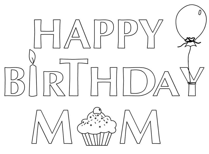 printable happy birthday coloring sheets ; Happy-Birthday-Coloring-Pages-for-Mom