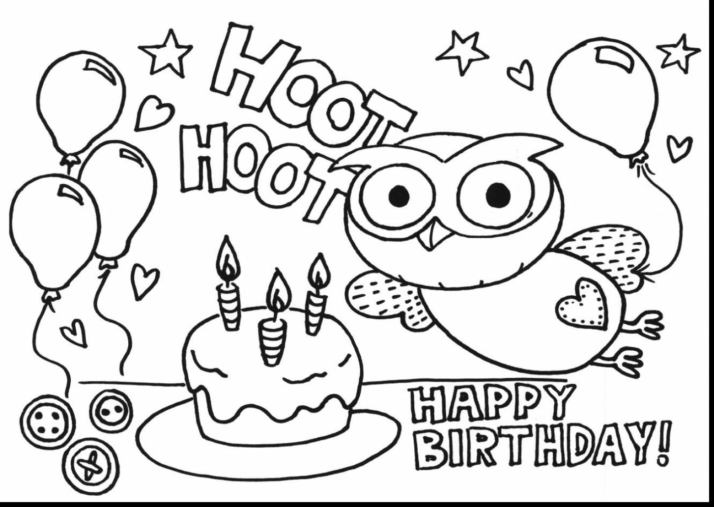 printable happy birthday coloring sheets ; coloring-book-awesome-happy-birthday-pages-with-cake-and-7
