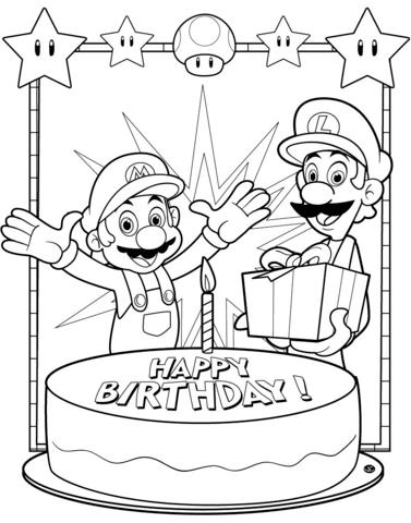 printable happy birthday coloring sheets ; happy-birthday-mario-coloring-page