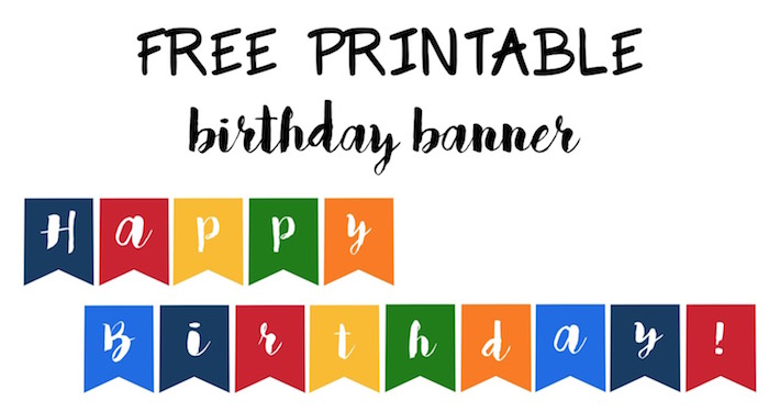 printable happy birthday signs to color ; Birthday-banner-short