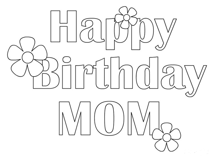 printable happy birthday signs to color ; Happy-birthday-coloring-pages-for-mom